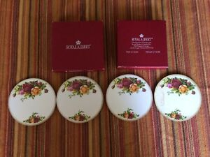 Royal Albert Old Country Roses set four coasters