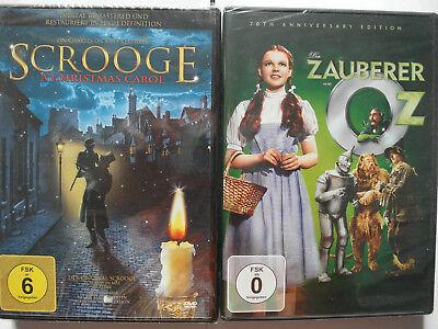Der Zauberer Von Oz Filme (Scrooge + Der Zauberer von Oz - Weihnachten, Kinderfilm Sammlung Paket Konvolut)