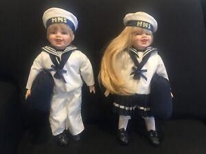 Porcelain doll set $50 the lot. NEW