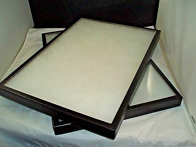 Two Jewelry Display Case Riker Mount Collectors Display Shadow Box 14x20 X 1 14