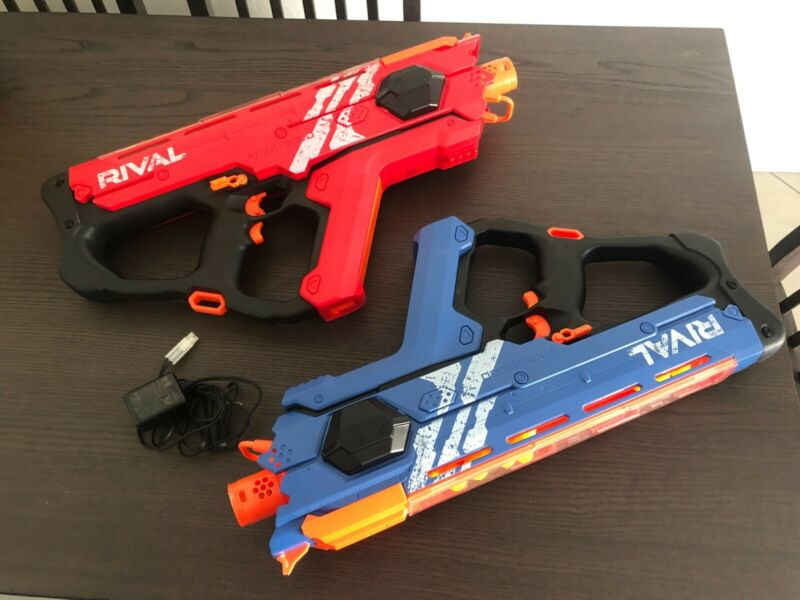 NERF Perses MXIX-5000 Rival Motorized Blaster RED AND BLUE