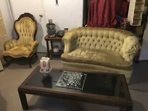 Antique Victorian living room set
