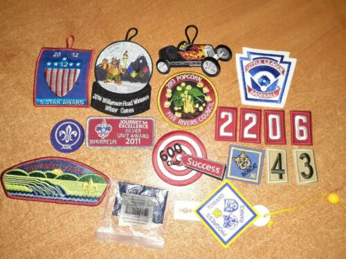 bsa boy scouts of america lot of Patches and shoulder loop blue.
