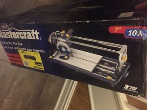 "Sliding Wet Tile Saw 7"" 10A - Mastercraft"