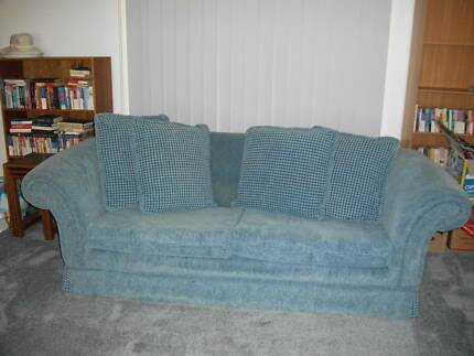 BLUE 3 SEATER SOFA Georges Hall Bankstown Area Preview