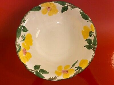 Vintage Franciscan Yellow Meadow Rose 9