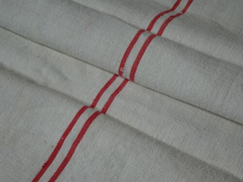 Antique European Feed Sack GRAIN SACK Red Stripe # 10417