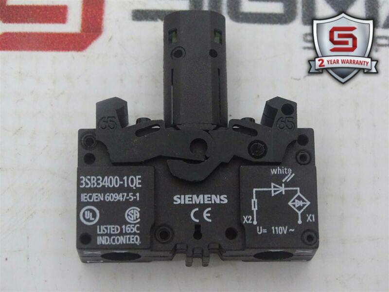 Siemens 3SB3400-1QE White Signal Lamp 110V 50Hz