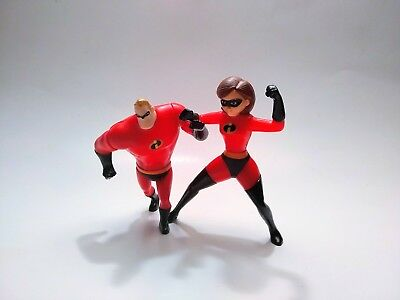 Mr. And Mrs. Incredible McDonald's Toy Lot Incredibles Pixar lot of 2