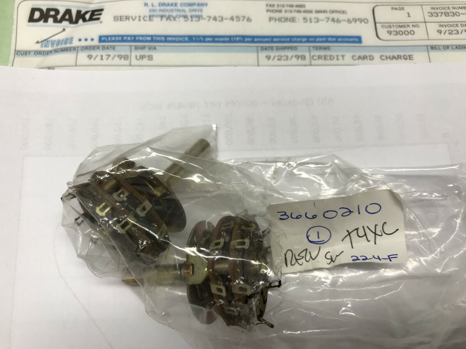 T-4XB T-4X T-4XC Transmitter RL Drake Replacement Capacitor Can for the T-4