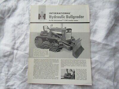 International Hydraulic Bullgrader T-340 Crawler Tractor Specification Brochure