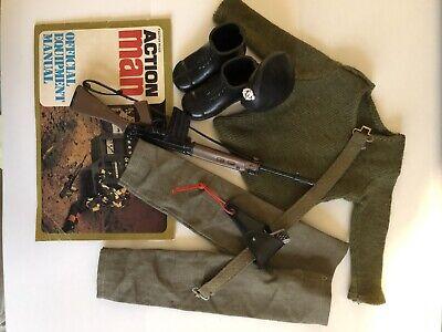 Vintage Action Man Original Complete Soldier Uniform & Accessories