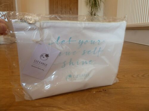 Liz+Earle+Toiletry+Make+Up+Bag+Large+Size+Cotton+Zip+Bag+New+In+Packet