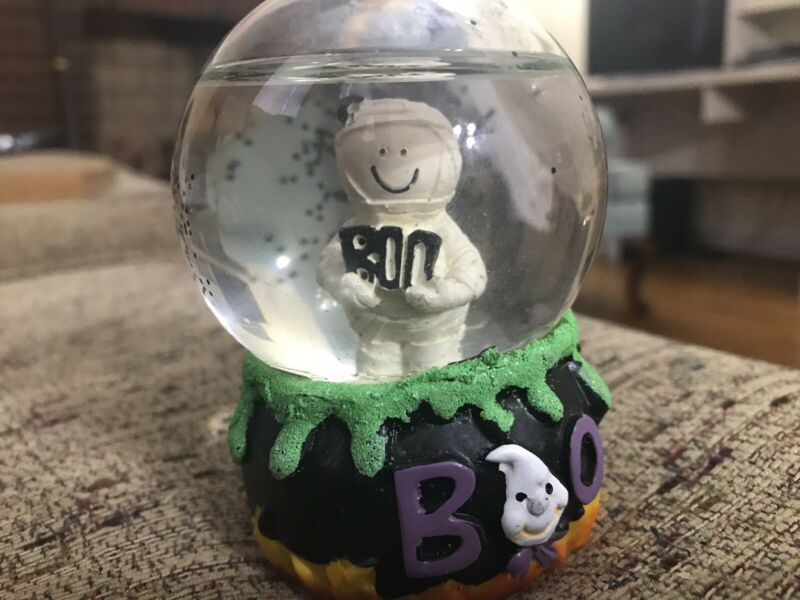 Halloween Mini Water Snow Globe Mummy Ghost Head & BOO AA49