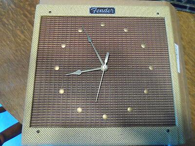 Raro 1980's Fender Sam Hutton tweed clock En Original Caja NOS
