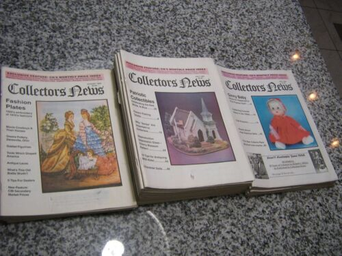 COLLECTORS NEWS MONTHLY MAGAZINE AUGUST 1996 TO JUNE 1998 HUMMELS,ROSEVILLE, ETC