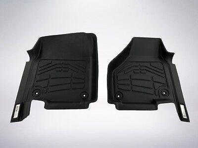 2 Piece Front Floor Mats - 2-Piece Front Row Black Floor Mats 2012 - 2019 Dodge Ram 2500/3500 Regular Cab