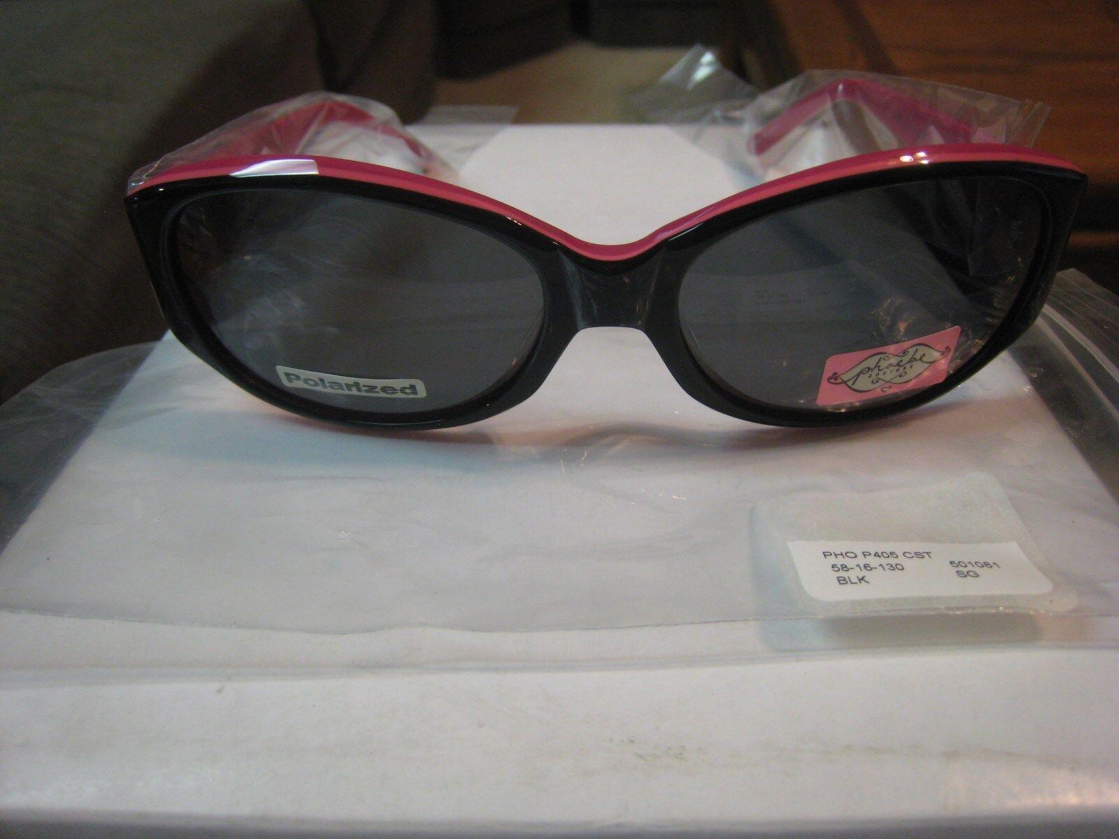 e49272a314e6 UPC 751658915726 product image for Phoebe Couture Polarized Sunglasses- women's P405-black -nwt