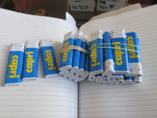 Capri  Cigarette Lighters , Vintage , New/Old Inventory ,  Lot of 10