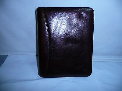 Franklin Covey Brown Leather Day Planner Organizer