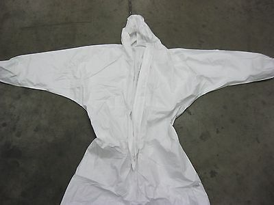 3 White Cleanup Paint Suit Size 2 Xl 10 33 X 39-12 Asbestos Cleanup Bags