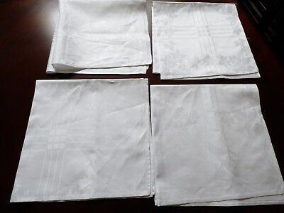 Oversized Tablecloths (New White Maple Leaf & stripes  Jacquard  Linen oversized Napkins set of 4)