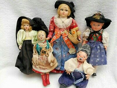 VINTAGE DOLLS MIXED MEDIUM CLOTH, COMPO ETC 1950S/60S
