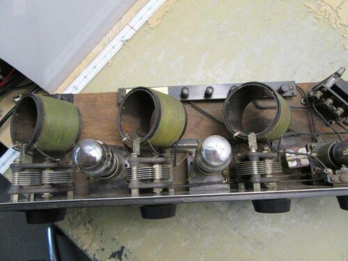 antique 1923 homemade tube radio receiver [4*P-30]