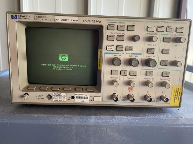 HP HEWLETT-PACKARD 54602B OSCILLOSCOPE 150 MHz  - SN: US35410514