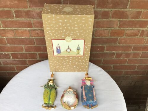 MacKenzie Childs Patience Brewster Christmas We Three Kings Mint in Box