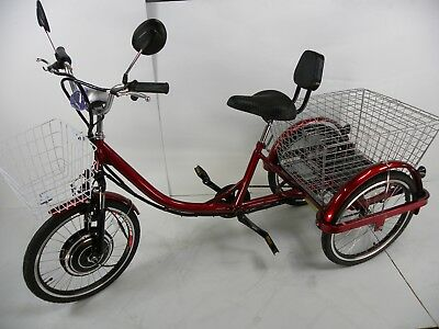 Red Electric tricycle scooter for adults, motorized trike, electric scooter