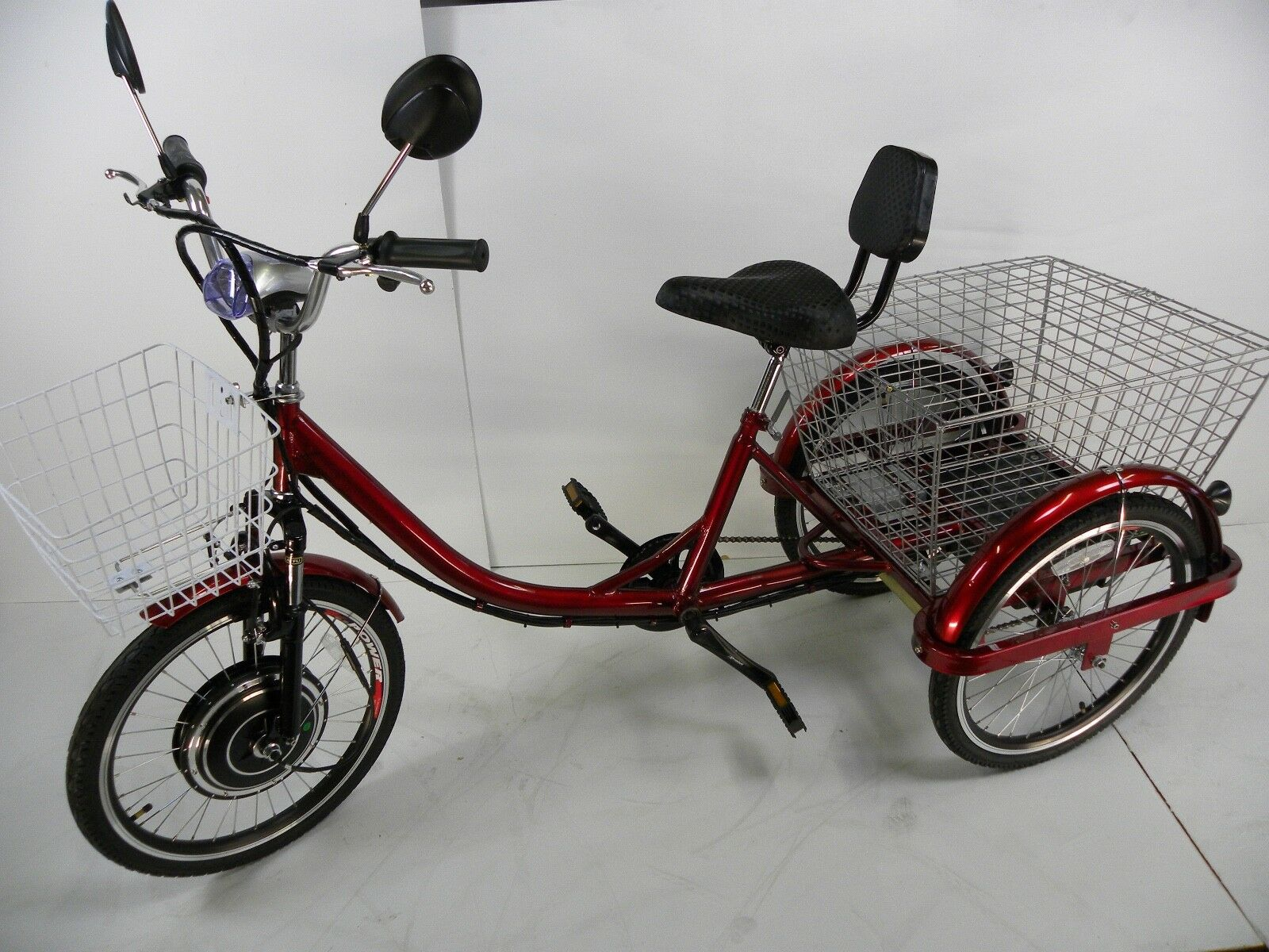 Red Electric tricycle scooter for adults, motorized trike, electric scooter (New - 3899 USD)