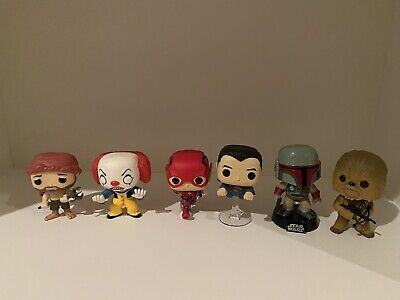 Funko Pop Lot Loose Justice League 2 Pack Flash SuperMan Star Wars Boba Fett