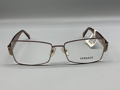 VERSACE EYE GLASSES BROWN MADE IN ITALY MOD 1028-B 1013 55 16 135 New w/ Tag