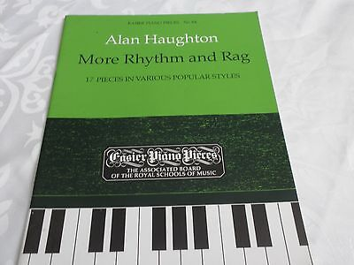 MUSIC BOOK - MORE RHYTHM AND RAG -  POPULAR STYLES - ALAN HAUGHTON
