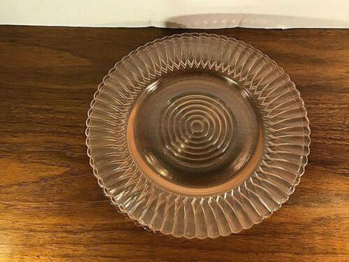 "MacBETH-EVANS GLASS Co. PETALWARE PINK 8"" DIAMETER SALAD or LUNCHEON PLATE!"