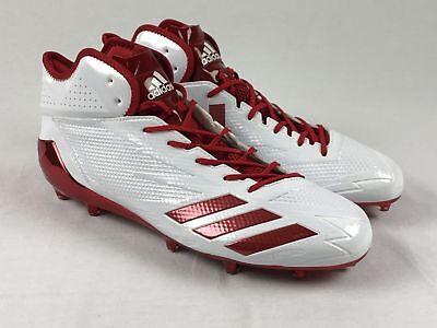 9e40f94334fc NEW adidas Adizero - White/Red Cleats (Men's 15)