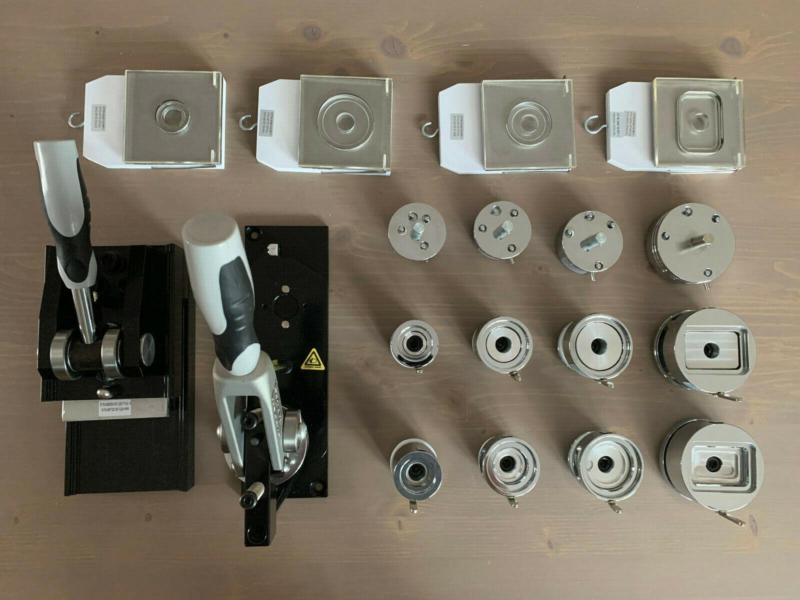 SECABO Buttonherstellung / Buttonmaschine mit viel Zubehör 900€ unter Neupreis!