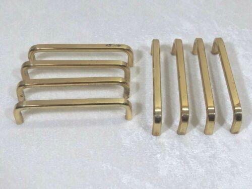 """Vintage Drawer Pulls Cabinet Brass Handles 4"""" Set of 8"""