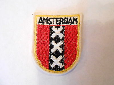 Vintage Amsterdam the Netherlands Embroidered Crest Souvenir Patch