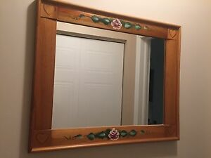 BEAUTIFUL WOODEN MIRROR - OAK