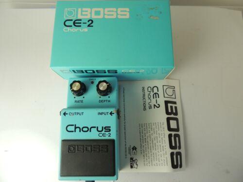 Vintage 1982 Boss CE-2 Analog Chorus Effects Pedal Made in Japan w/Original Box
