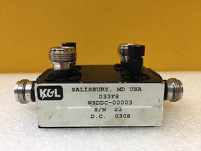 Kl Wsddc-00003 1.7 To 2.0 Ghz 30 Db 500 Watt N F Dual Directional Coupler.