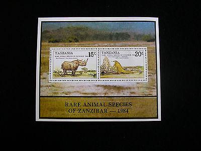 Tanzania Rare Animal Species of Zanzibar Sheetlet