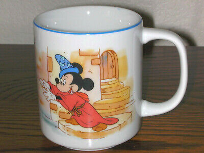 Mickey Mouse Cups (Disney Vintage Mickey Mouse Coffee Cup Sorcerer's Apprentice Mug Fantasia)