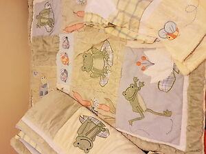 Frog/turtle crib bedding set