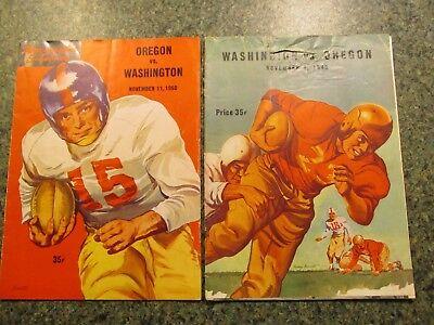 1949 & 1950 U OF WASHINGTON VS U OF OREGON FOOTBALL PROGRAMS-2 DIFFERENT - U Of Washington Football