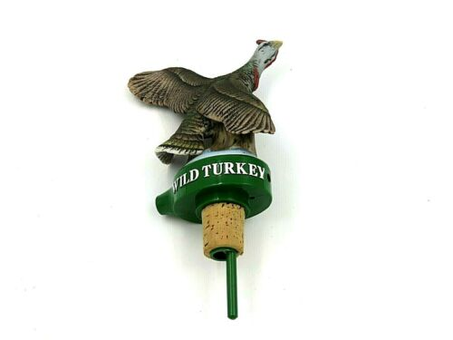 Vintage Wild Turkey Bottle Stopper Pourer with Ceramic Turkey