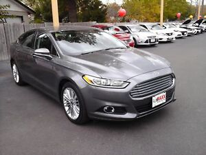 2014 FORD FUSION SE- POWER GLASS SUNROOF, NAVIGATION SYSTEM, REA