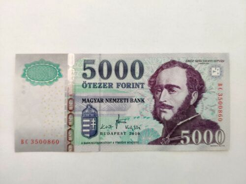 Hungary 2010 5000 Forint banknote - UNC